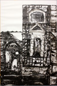 Untitled, 2015, Indian ink on paper 150x100 cm